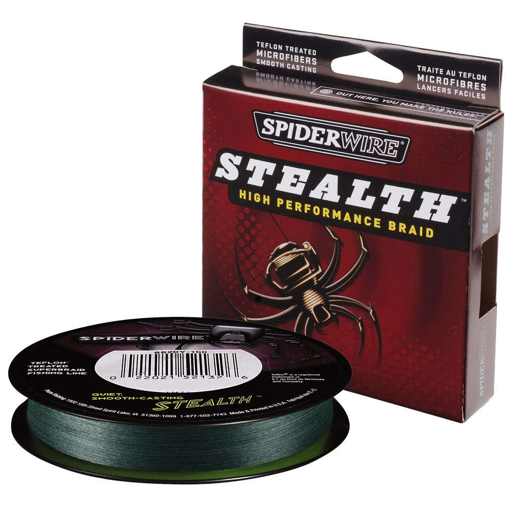 Леска плетеная Spiderwire Stealth Moss Green 270м, #0.20, 18,1кг  (61902)