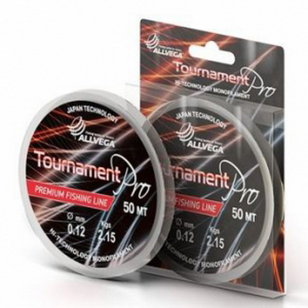 Монолеска Allvega Tournament Pro Premium 50м 0,170мм (4,65кг) прозрачная (76528)Монофильные лески<br>Монолеска Allvega Tournament Pro Premium занимает почетное место среди лесок премиум класса. Она используется там, где необходима высокая прочность и надежность.<br>