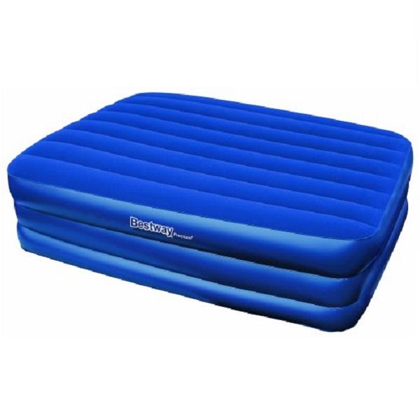 Кровать Bestway надувная Premium Air Bed Queen 67110Раскладушки, кровати складные<br>Надувная кровать темно-синего цвета прекрасно подойдет для сна в помещении, а также сделает незабываемым и сон на свежем воздухе. Прочная структура I-beam, мягкая флокированная поверхность - то, что нужно для того, чтобы насладиться комфортным сном. С пом...<br>
