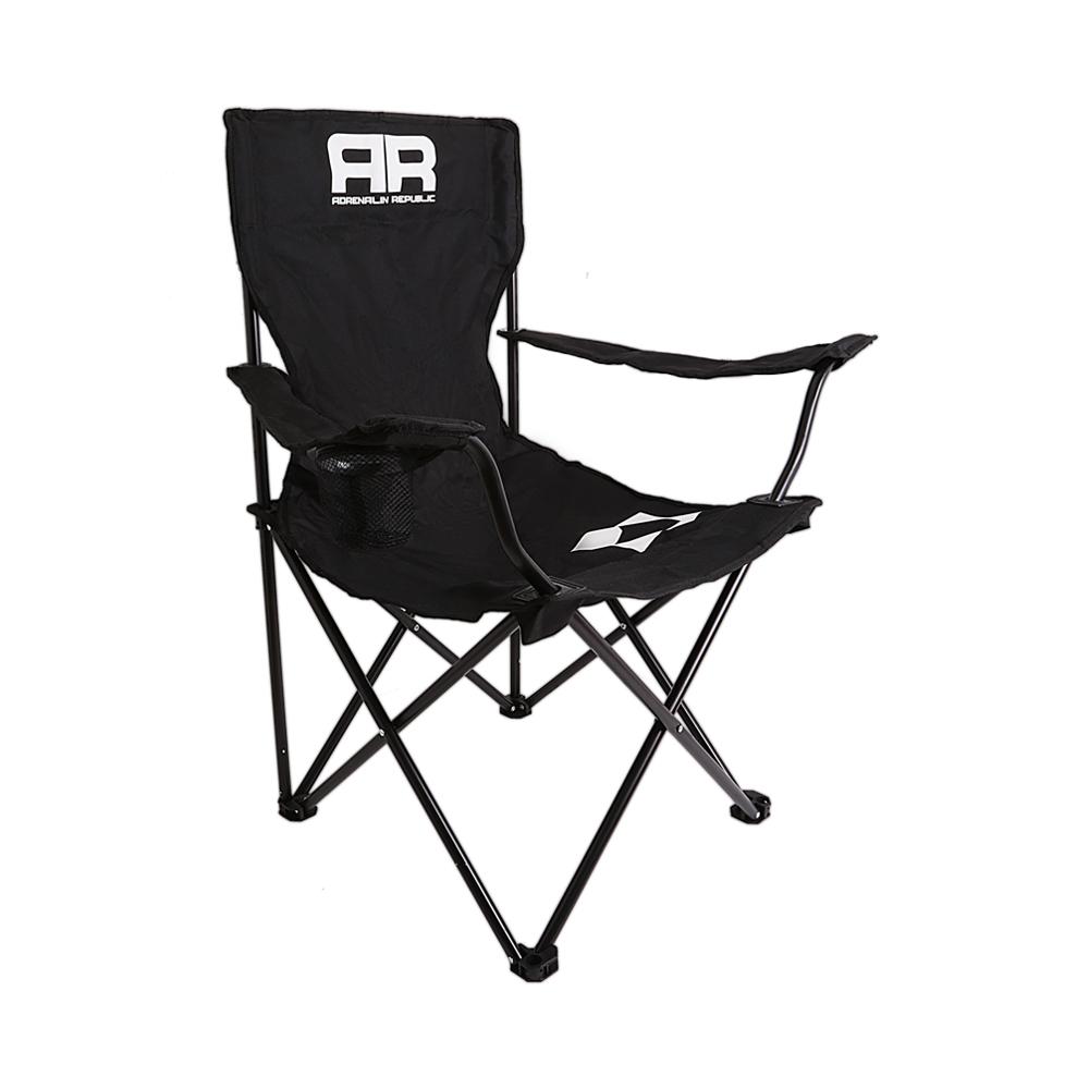 Складной стул Adrenalin Republic Mac Tag Sr. Black (подлокотники, держатель стакана)