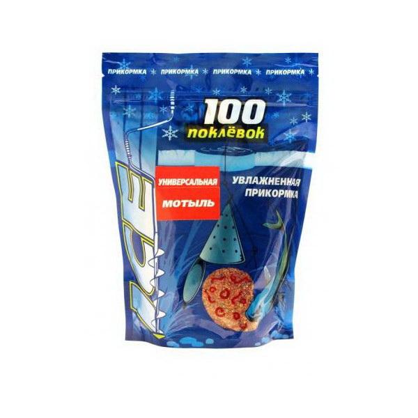 Прикормка 100 Поклевок Ice Мотыль 500 гр.