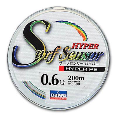 Леска Daiwa Surf Sensor Hyper Pe #0.6 (8474)Плетеные шнуры<br>Изготовлена из материала PE со специальной обработкой при помощи системы UVF  Ultra Volume Fiber  Обладает высокой прочностью, в 1,4 раза более прочная, чем обычная плетеная леска из материала PE  полиэтилен .<br>