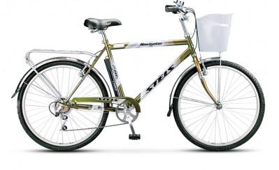 Велосипед Stels 26 Navigator-210 В 2012 Gent/LadyВелосипеды Stels<br>Если Вы хотите приобрести качественный байк для расслабленных прогулок по ровным асфальтированным дорогам, то обратите внимание на дорожный Stels Navigator 210! Стоит он совсем недорого. Имеет вместительную корзину и багажник для перевозки малогабаритных ...<br>