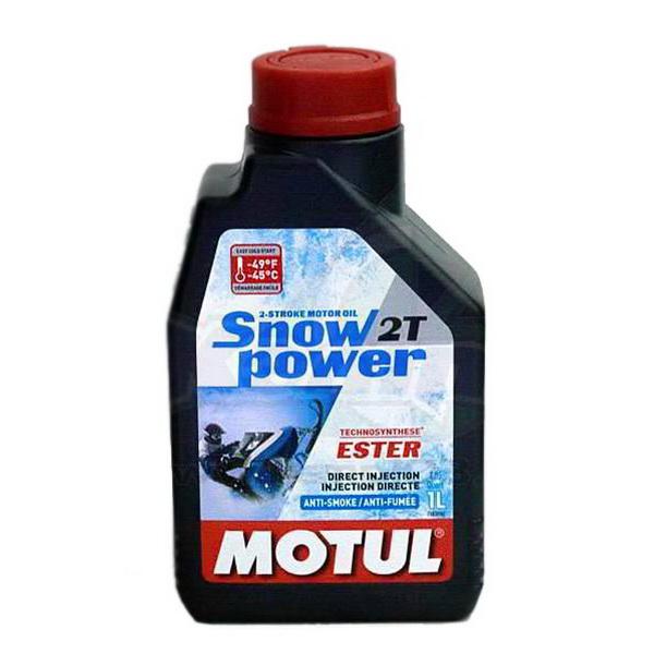 Масло Motul Snowpower 2T (1 л)Масла и ГСМ<br>Snowpower 2T — масло, предназначенное для всех типов двухтактных двигателей снегоходов с раздельной и смешанной смазкой. Снижает дымность выхлопа.<br>