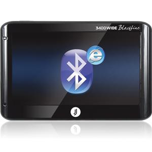 Автонавигатор JJ-Connect AutoNavigator 3400 WIDE BlackLineGPS навигаторы<br>Прибор может выходить Internet c помощью подключения по каналу Bluetooth к мобильному телефону, поддерживающим службу удаленного доступа к сети DUN (Dial-Up Network). Это позволяет принимать данные о трафике по GPRS-каналу и осуществлять просмотр веб-стра...<br>