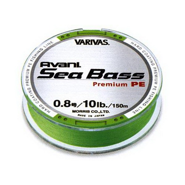 Леска плетеная Varivas Avani Sea Bass PE зеленый 150м, #1.5 (73986)Плетеные шнуры<br>Это PE-шный шнур, сплетенный из 4-х нитей, отличается высокой чувствительностью и устойчивостью к рывкам.<br>