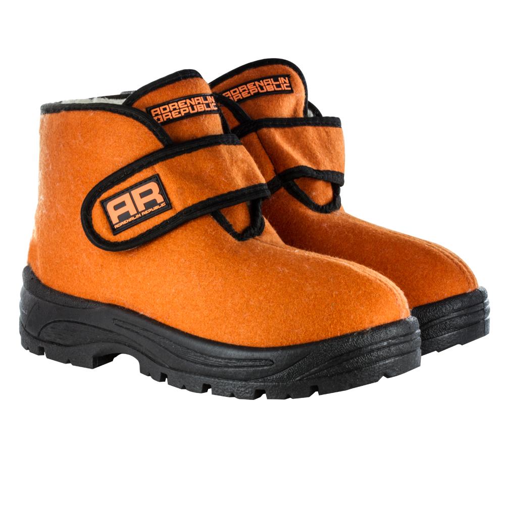 Ботинки-валенки Adrenalin Republic женские, оранжево-черные разм. 39 (84395)Ботинки<br>Adrenalin представляет удобные и стильные валенки, изготовленные из высококачественного войлока.<br>