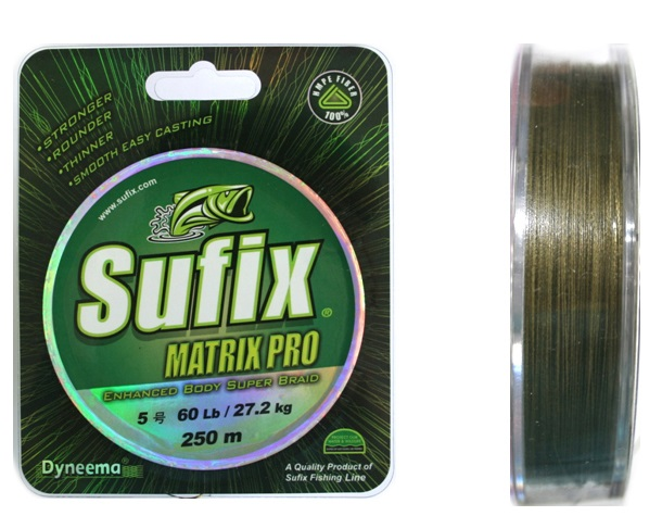 Леска плетеная Sufix Matrix Pro green 135 м