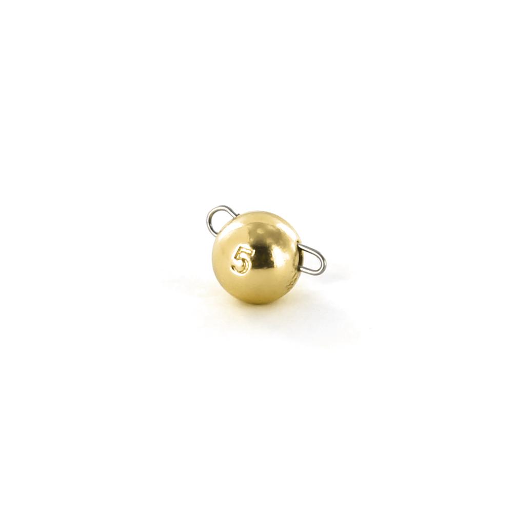 Чебурашка вольфрамовая Tsuribito Tungsten Weights Calibrated Jig Sinker, 5 г, 4 шт., цвет золото (93512)Джигголовки, Чебурашки<br>Материал: вольфрам<br>
