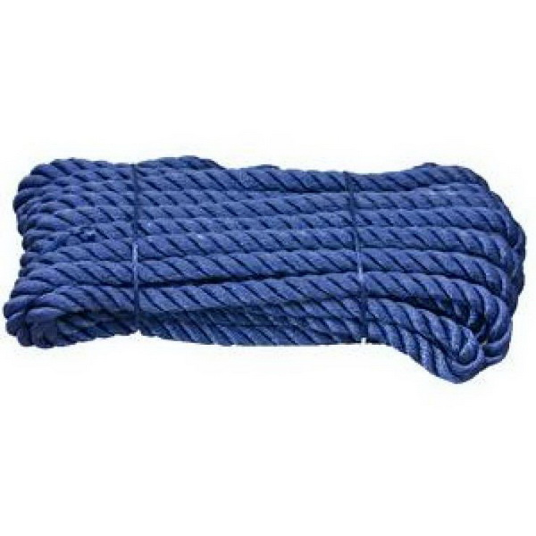 Канат Laker швартовый (полиэстр) 12 X 10M-синий (34030)Канаты<br>Швартовый канат, плетеный, синтетический  полиэстер .<br>