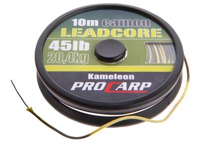 Поводковый материал Cormoran Lead Core Camo 10м 45lbОснастка<br>Cormoran Lead Core Camo – поводок PRO CARP камуфляжной расцветки прочного плетения подходит для всех видов поводочных оснасток. Благодаря расцветке, поводок практически не видно на фоне дна, а огрузка не позволяет ему всплывать. Идеален для пугливого карп...<br>