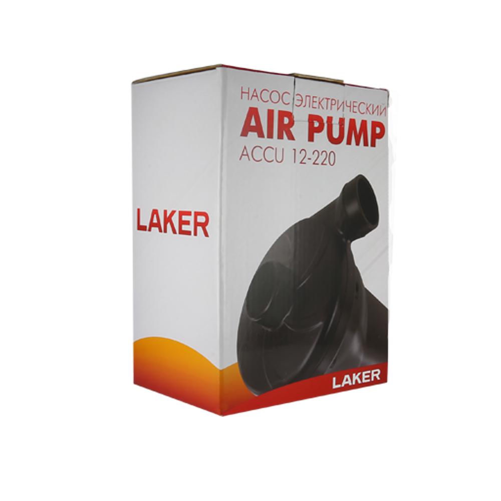 Насос электрический Laker Air Pump Accu 12-220Насосы<br>Компактные насосы Laker Accu работают от встроенного аккумулятора. В комплекте 3 типа насадок.<br>
