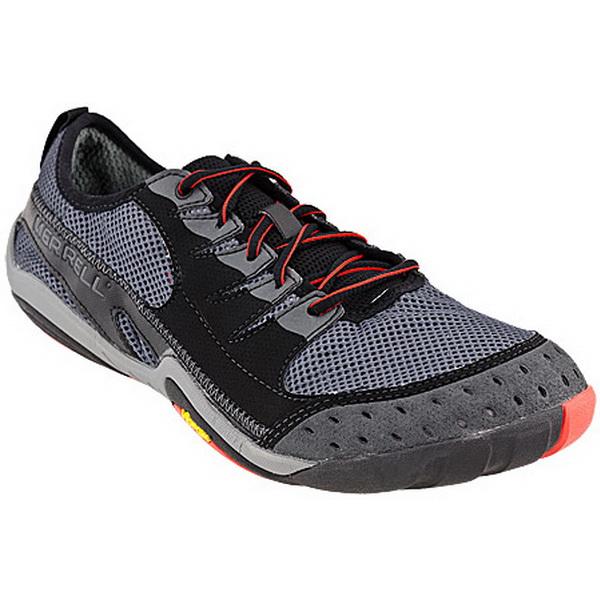 Полуботинки Merrell мужские Current Glove men`s shoes Black/Granite р.10Мокасины и полуботинки<br>Отличная модель, выполнена из плотной кожи с текстильными сетчатыми вставками, текстиль с антибактериальным Aegis®<br>