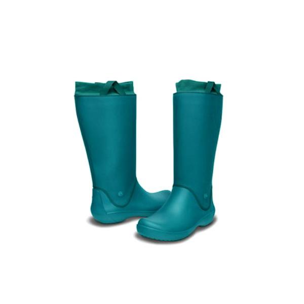 Сапоги Crocs РэйнФло Бут LДжанипер/Джанипер р. 38,5 (W 8) (76213)Сапоги<br>Встречайте грозу и дождь невозмутимо с непромокающими, комфортными полуботинками CROCS. Они надёжно защитят ступни и голени от влаги и грязи.<br>