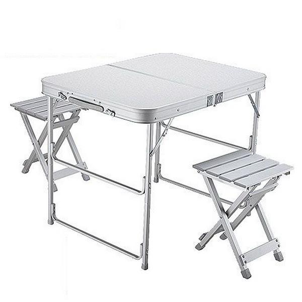Складной стол Norfin Boren NF Alu 80x60Столы складные<br>Компактный складной стол (со стульями), изготовленный из алюминия.<br>