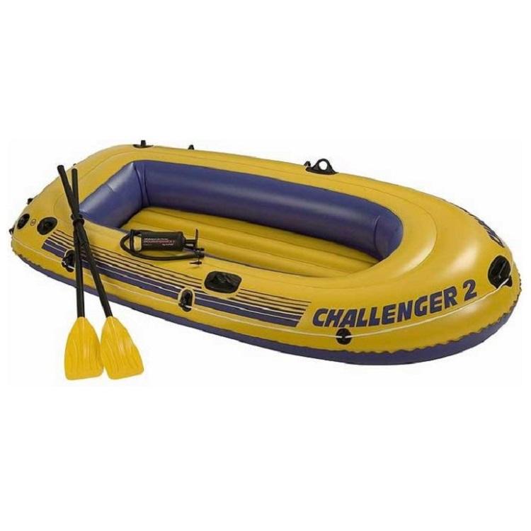 Лодка Intex Challenger-2-SET, двухместная, 236х114х41см, весла, ручной насос 68367