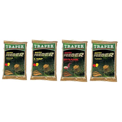Прикормка Traper Feeder Series Turbo (Фидер серия - Карп, Лигь, Карась) 1кг 00102Прикормки<br>Feeder – вязкая смесь желтоватого цвета с приятным сладким запахом. Помол – мелкий, но в обязательном порядке присутствуют и крупные частицы кондитерского происхождения.<br>