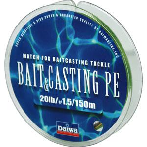 Леска Daiwa Bait Casting Pe 20 Lb (25134)Плетеные шнуры<br>Леска плетеная Bait &amp; Cast PE - изначально была адаптирована производителем под мультипликаторные катушки. Сравнивая с классическими PE шнурами, у лески плетеной Daiwa Bait &amp; Casting прослеживается в несколько раз большая жесткость. Это преимущество с бол...<br>