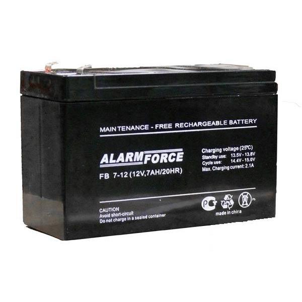 Аккумулятор ALARM FORCE FB 7.2-12Аксессуары для электроники и навигаторов<br>Работа с эхолотом подразумевает циклический режим использования аккумулятора до полного разряда. Поэтому, рекомендуется применять аккумуляторы, расcчитанные на работу в циклическом режиме и хорошо переносящие глубокий разряд. Именно к таким АКБ относится ...<br>