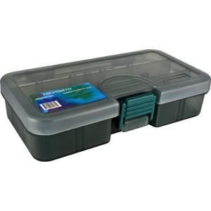 Коробка Tsuribito TF1331DКоробки<br>Удобная пластиковая коробка Tsuribito для хранения и транспортировки приманок. Коробка имеет 8 съемных перегородок и одну фиксированную, перегородки позволяют изменять размер каждого отделения. Размер  13,8 х 7,7 х 3,1см.<br>