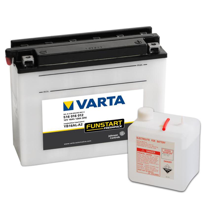 Аккумулятор Varta Funstart (516 016 012) FP гидроцикл YB16AL-A2Аккумуляторы<br>Надёжная пусковая мощность.<br>