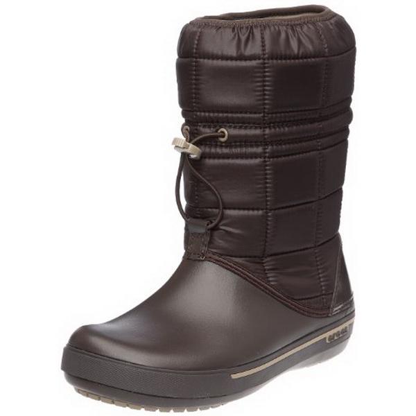 Сапоги Crocs жен. Крокбэнд II.5 Винтер Бут Эспрессо/Хаки р. 39.5 (W 9) (70088)Сапоги<br>Современные легкие практичные сапоги Crocband™ II.5 Winter Boot<br>