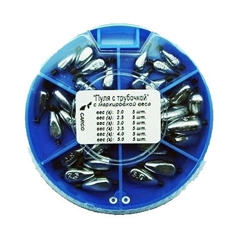 Грузила Salmo ПУЛЯ с трубочкой 6 секц. 085 набор 8527-085 (102500)Грузила, отцепы<br>Грузила ПУЛЯ с трубочкой 6 секц. 070 набор вес 1,0г; 1,5г; 2,0г; 2,5г; 3,0г; 3,5г/на силиконовой трубочке Для поплавочной и легкой донной снасти. На каждом грузике нанесена маркировка веса в граммах.<br>