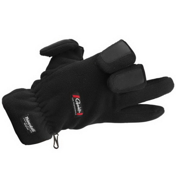 Перчатки Gamakatsu Fleece GlovesВарежки/Перчатки<br>Рыболовные перчатки, специально разработанные для рыбалки в холодное время года. На поверхность ткани в области ладоней нанесено нескользящее резиновое покрытие для избежания проникновения воды во время работы с мокрыми приманками.<br>