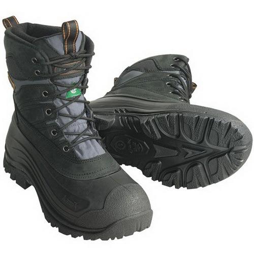 Ботинки Kamik Pedigree мужск., верх: кожа, водонепроницаемые, при движ. -40°C, р-р 48, цвет черный (66723)Ботинки<br>Ботинки для зимнего отдыха, охоты и рыбалки, с утеплением до - 40 градусов.<br>