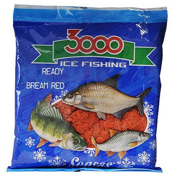 Прикормка Sensas зимняя готовая 3000 Bream Red 0,5кгПрикормки<br>Увлажненная прикормка для ловли леща. Обладает красным цветом и запахом мотыля. <br>Состав опуская в лунку в виде небольших шариков, быстро рассыпается по дну и привлекает рыбу в зоне ловли.<br>Прикормка предназначена для зимней ловли, не слеживается и не замер...<br>