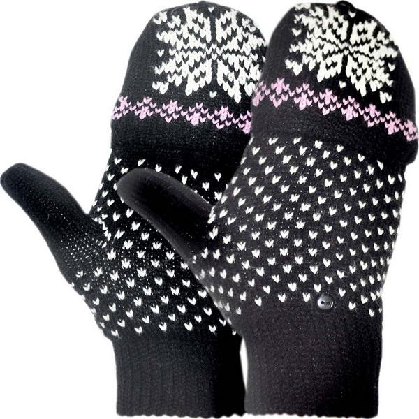 Перчатки-варежки NovaTour вязаные Igloos W Черный с узором