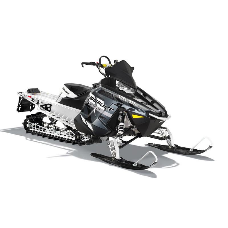 СнегоходPolaris 800 RMK Assault 155 LTD white/black 2015Снегоходы<br>Современный снегоход с мощным двухцилиндровым двигателем., который прекрасно справляется с крутыми уклонами на горной местности. Усовершенствованная подвеска и конструкция лыж направлена именно на эффективное преодоление спусков и подъемов.<br>