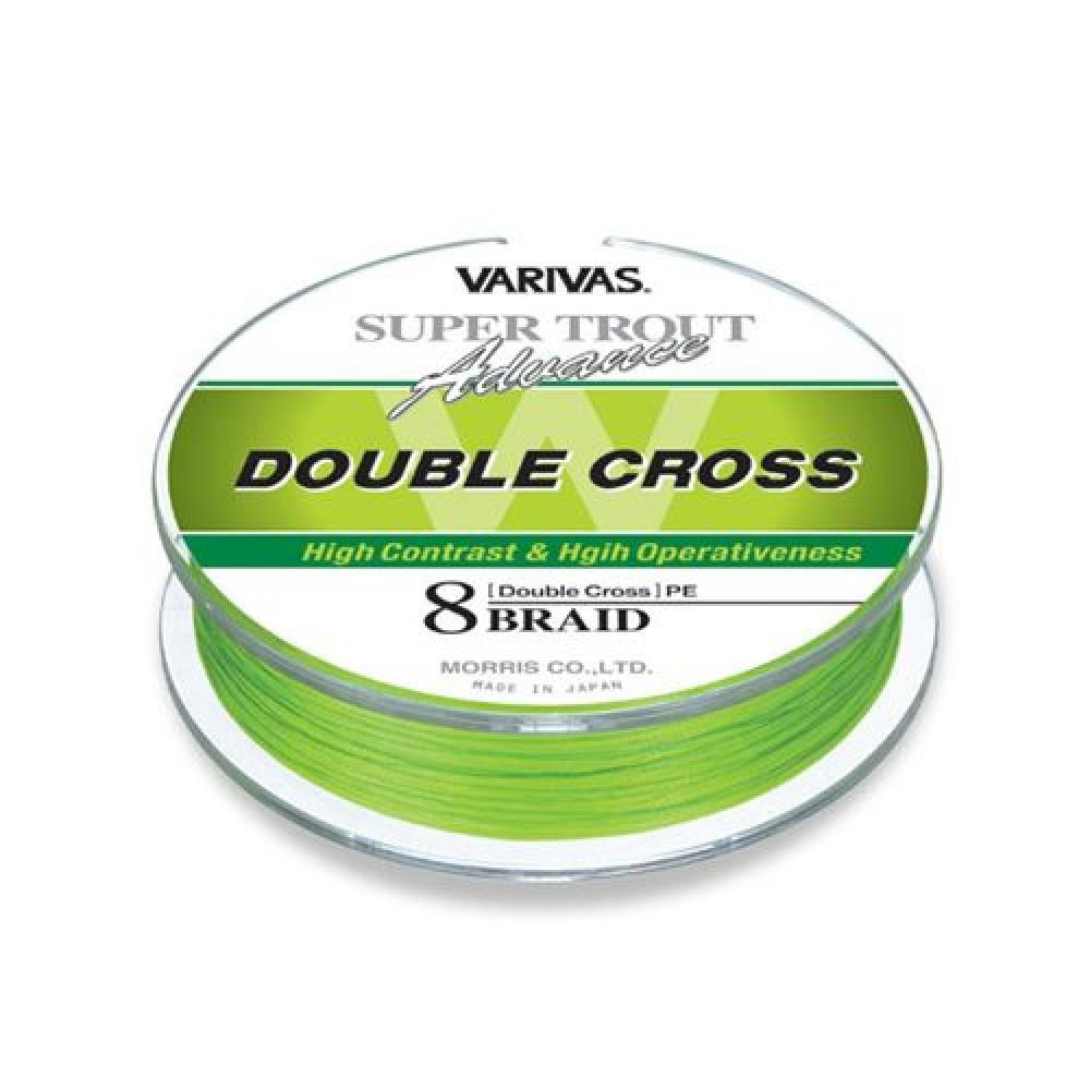 Леска плетеная Varivas Trout Advance Double Cross PE 91 м #1.0 (97814)Плетеные шнуры<br>Леска плетеная Varivas Trout Advance Double Cross PE - это восьмижильные плетеные шнуры, выполненные из волокна с покрытием PE. Они представлены в флуоресцентно-зеленом цвете и имеют пятидесятисантиметровые отсечки темно-зеленой расцветки через каждые 2 м...<br>