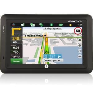 Автонавигатор JJ-Connect AutoNavigator 4100W TrafficGPS навигаторы<br>Обновленная модель автонавигатора 4100 оснащена экраном диагональю 4,3 дюйма для детального отображения навигационной информации.<br>
