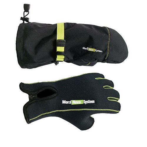 Перчатки Mora NOVA SYSTEMВарежки/Перчатки<br>Перчатки для зимней рыбалки с обрезанными пальцами. В комплекте имеются съемные рукавицы.<br>