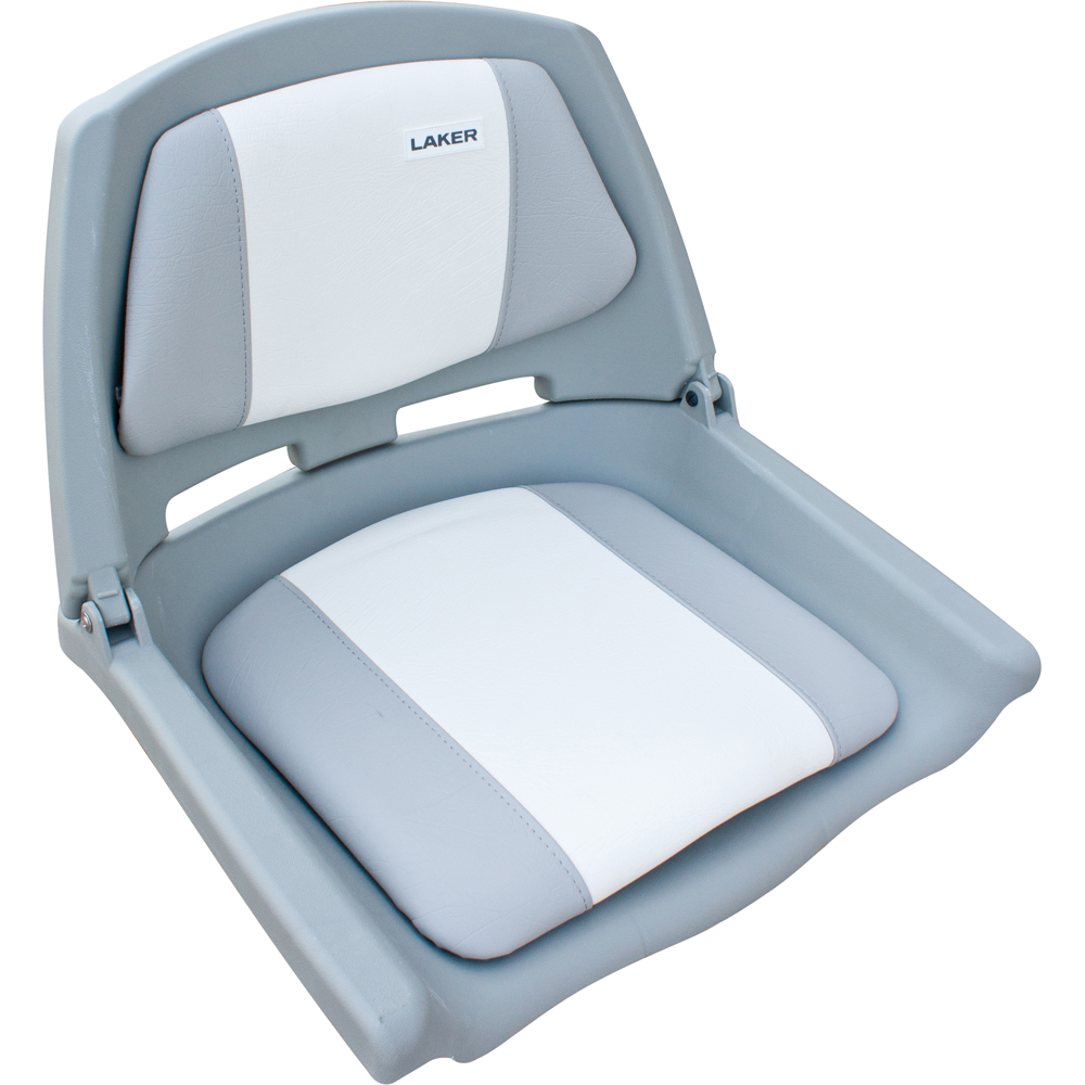Кресло Fishermans складное мягкое серо-белоеСтулья, кресла складные<br>Кресло складное мягкое серо-белое. Обивка из винила, устойчивого к воздействию влаги и ультрафиолета. Не выгорает на солнце и не впитывает жидкостей. Крепеж на 4 болта.<br>