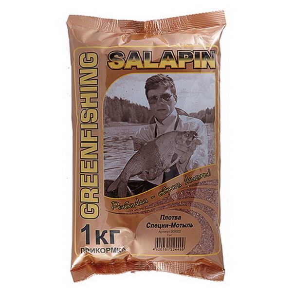 "Прикормка GF Salapin ""Плотва Специи-Мотыль"" 1 кг. 900022 от Greenfishing"