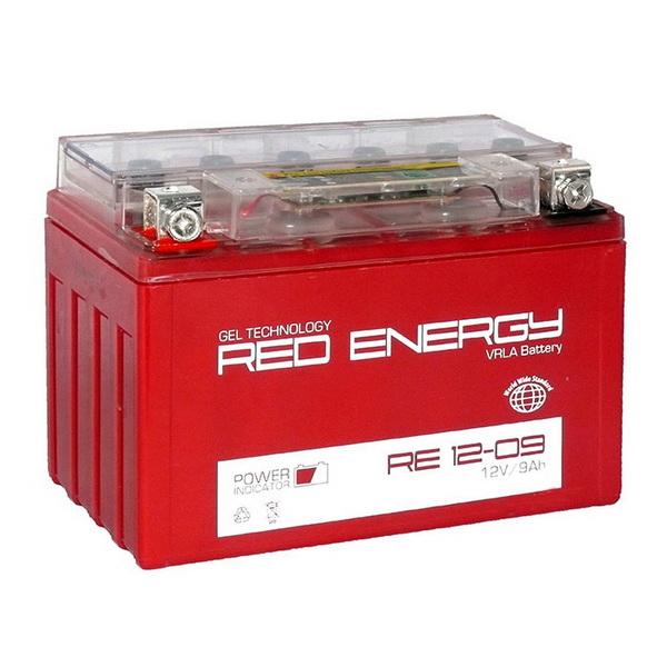 Аккумулятор Red Energy RE 12-09Аккумуляторы<br>Аккумулятор с напряжением 12V, предназначенный для использования в дизельных генераторах, мотоциклах, водных мотоциклах и другой технике.<br>