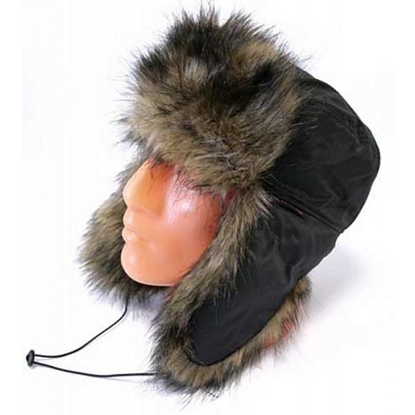 Шапка Zabava-Prime  Аляска Мех Медведь плащевка,цвет черный,размерXLШапки/шарфы<br>Зимняя шапка с верхом из плащевых материалов, отделанная мехом.<br>
