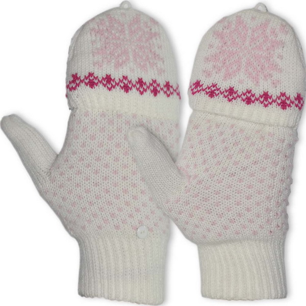 Перчатки-варежки NovaTour вязаные Igloos W Белый с узоромВарежки/Перчатки<br>Стильный и полезный аксессуар для женщин - перчатки-варежки вязанные W Igloos NOVA TOUR.<br>