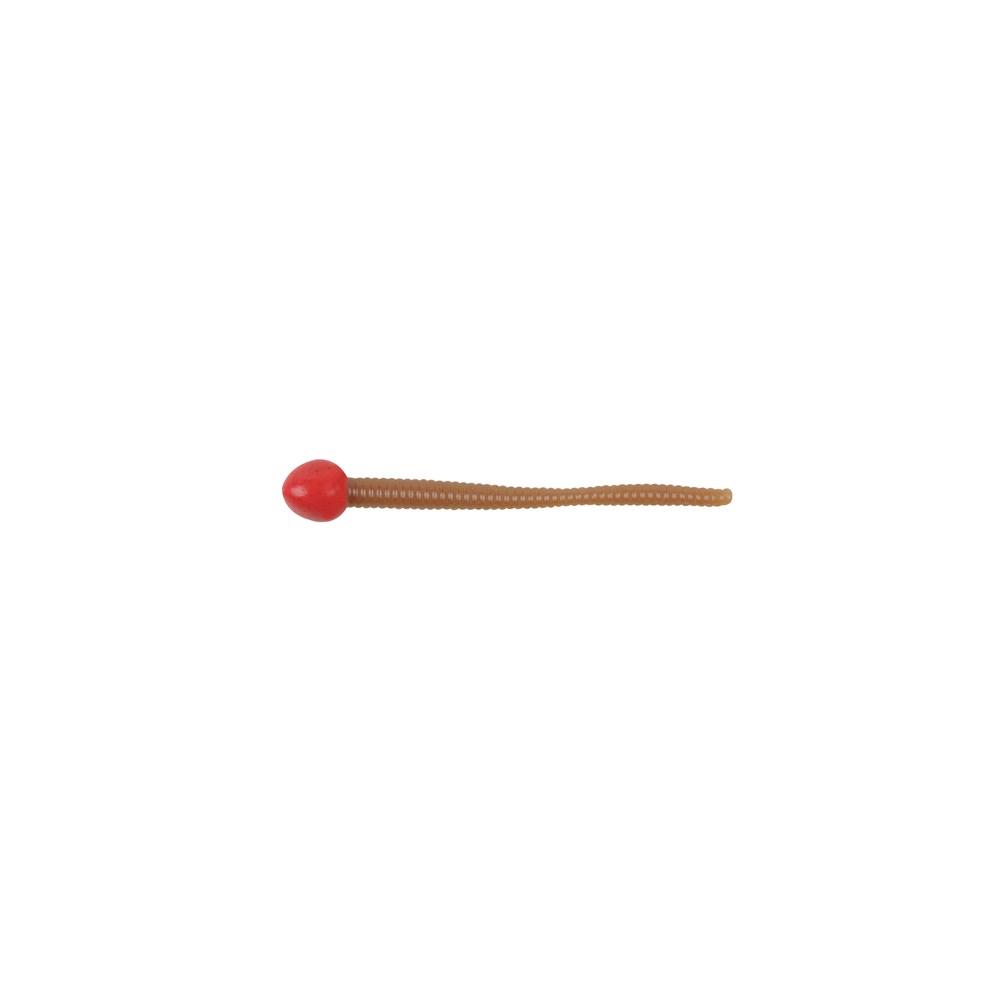 Червь Berkley Powerbait Mice Tail 7,5см, силиконовый, цв. красный/натуральный (61825)