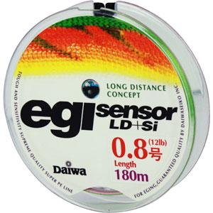 Леска Daiwa Egi Sensor LD + Si #0.8-180 (25138)Плетеные шнуры<br>Технология Evo Silicone уменьшает коэффициент динамического торможения  на 20%, способствует более дальним забросам.<br>
