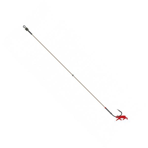 Оснастка Lynx Single Hook Trace, size 1, 40lb, 40cm, barbed (70766)Фидерная и карповая оснастка<br>Оснастка с проволочной защитой жала крючка. Применяется для ловли на отводной поводок, а также с применением шарнирной оснастки.<br>