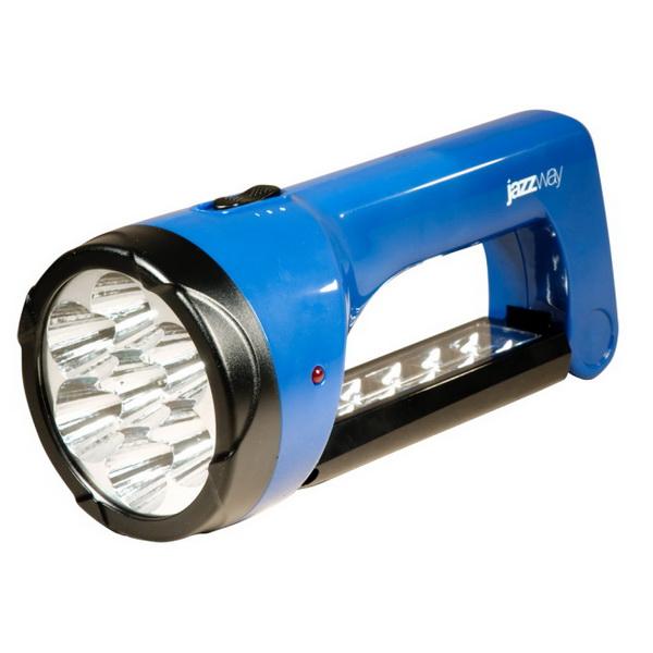 Фонарь Jazzway Accu2-L07Фонари ручные<br>Аккумуляторный фонарь с небольшим весом. Свет излучается за счет 7 очень ярких диодов.<br>