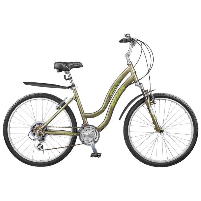 Велосипед Stels Miss-7300 26Велосипеды Stels<br>Женский велосипед с оборудованием начального уровня, амортизационной вилкой с ходом 50мм. Предназначен для езды по пересеченной местности. Комфортный, качественный и доступный по цене горный велосипед.<br>