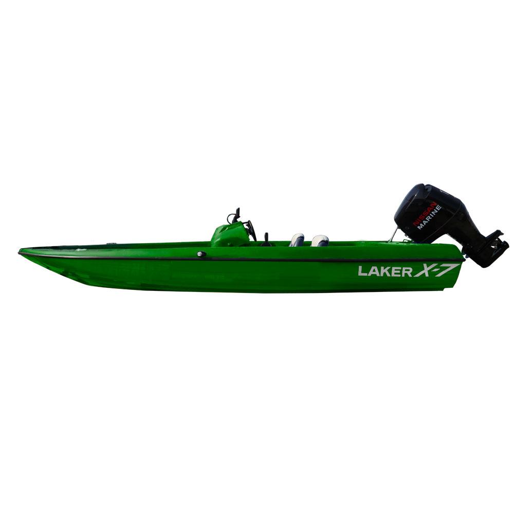 Катер Laker X7 зеленыйКатера и яхты<br>Новинка в семействе стеклопластиковых лодок Laker - скоростная лодка с плавными обводами.<br>