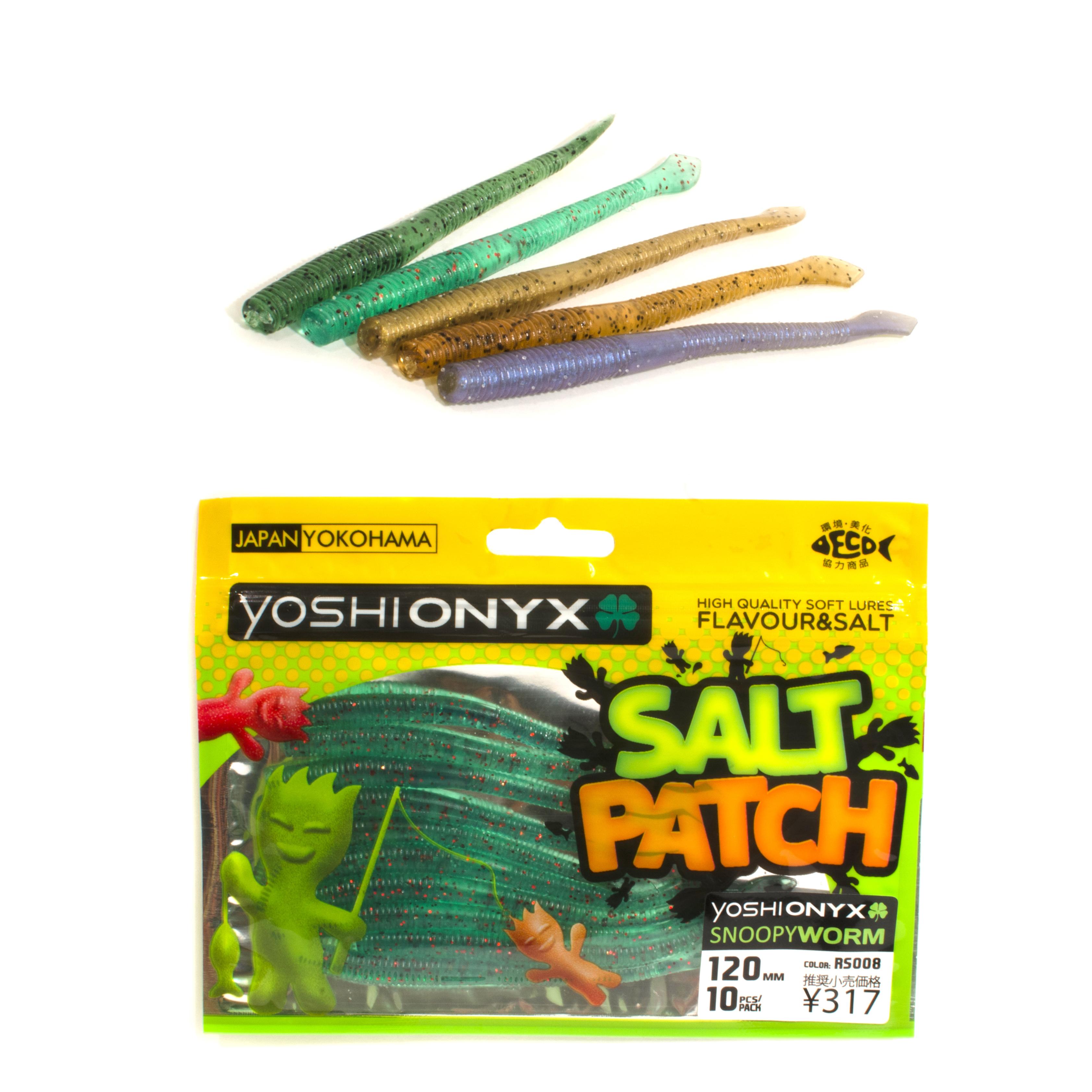 Приманка Yoshi Onyx Salt Patch SnoopyWorm 4.7Мягкие приманки<br>Новая линейка мягких приманок от бренда Yoshi Onyx<br>