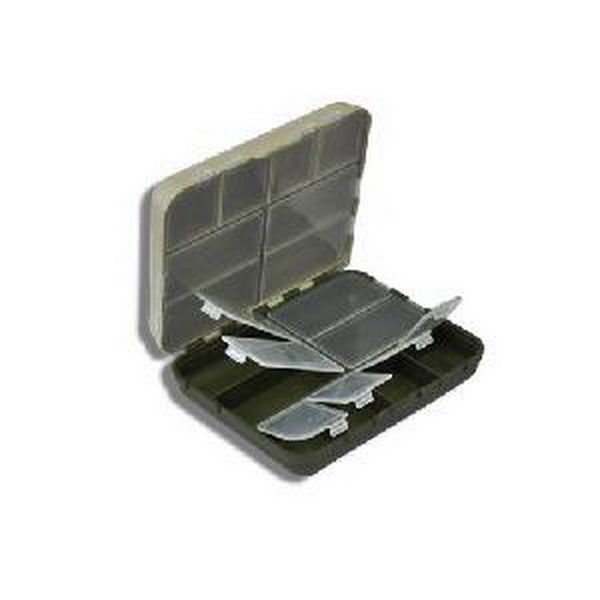 Коробка Salmo для крючков пласт. 16 яч.Коробки<br>Фирменная двухстворчатая коробка для хранения рыболовных принадлежностей (крючков, карабинов, вертлюгов, грузил). Изготовлена из пластикового материала. В каждой створке коробки имеются отделения, каждое из которых закрывается пластиковой прозрачной крышк...<br>