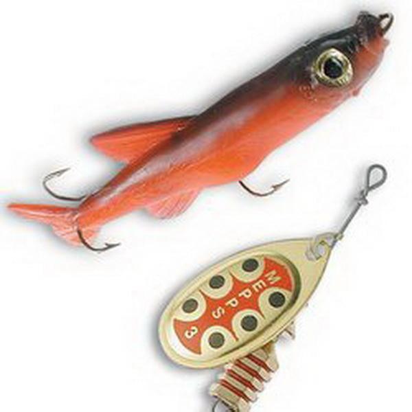 Оснастка для блесны Mepps Mino Red Красный 4 (67188)Блесны<br>Оснастка для блесны, укомплектованной пластиковой рыбкой, правдоподобно имитирующей настоящую рыбку. Данное приспособление во много раз увеличивает уловистость приманки.<br>