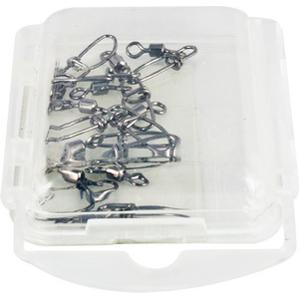 Карабин Tsuribito Rolling Swiwel With Insurance Snap #14 (упаковка 10 штук) (23587)Вертлюжки и застежки<br>разрывная нагрузка – 4кг<br>